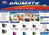 Thiết kế website giá rẻ: BAUMATICPAINT.COM